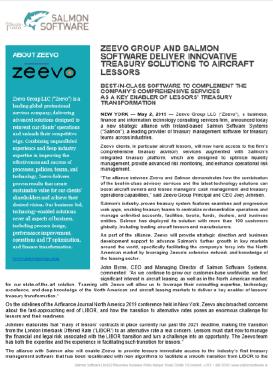 Treasury Management System - Zeevo Group Partnership